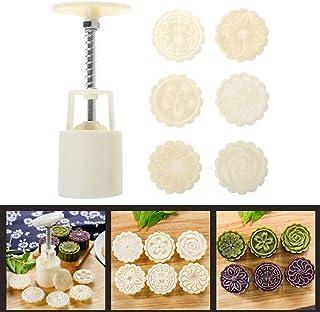 YAOYAN 150g mooncake forme de tonneau avec 3pcs Timbres fleurs main pre p/âtisserie g/âteau de lune Mooncake moule