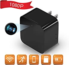 $44 » ElekBest 1080P WiFi Wireless Hidden Camera, Mini Spy Camera, USB Charger Camera Nanny Camera with Motion Detection APP Remote View, Hidden Loop Recording for Home and Office Security Surveillance
