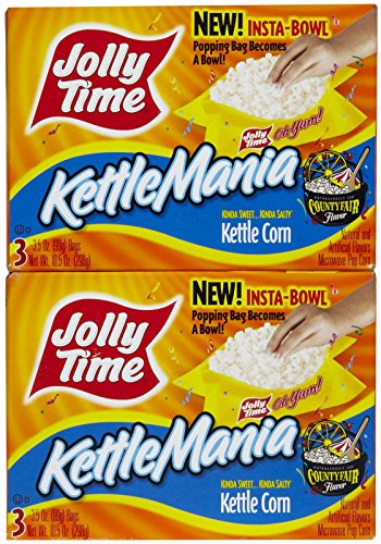 Jolly Time KettleMania Microwave Popcorn 24 Count Now $5.22
