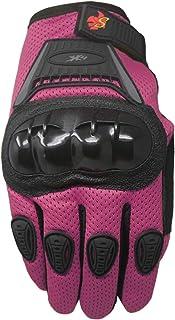 Street Bike Full Finger Motorcycle Gloves 09 (Youth_L, Pink)
