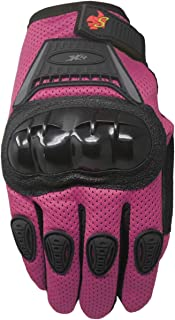 Street Bike Full Finger Motorcycle Gloves 09 (Youth_L, Pink)