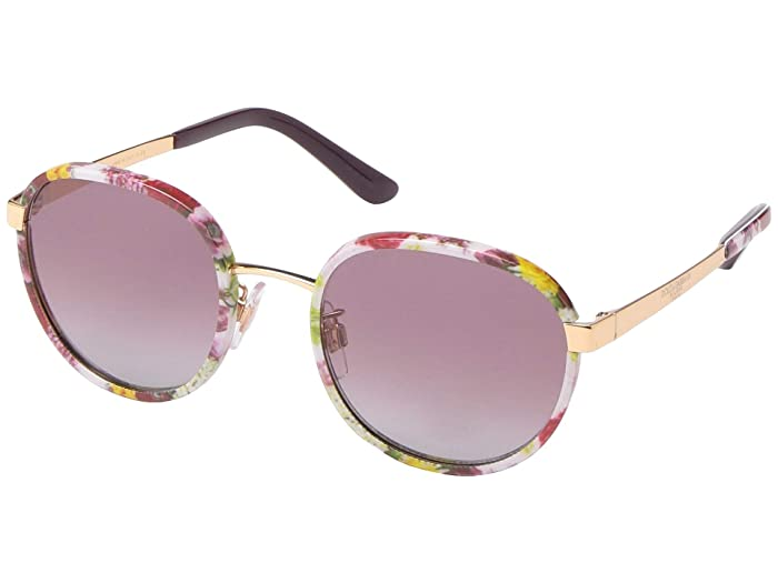 Dolce & Gabbana DG2227J (Print Flower Power/Grey Gradient Violet) Fashion Sunglasses