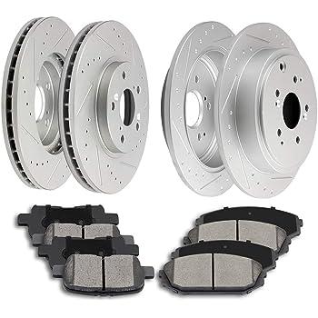 Front Brake Rotors /& Ceramic Pads For Acura MDX Honda Pilot Ridgeline