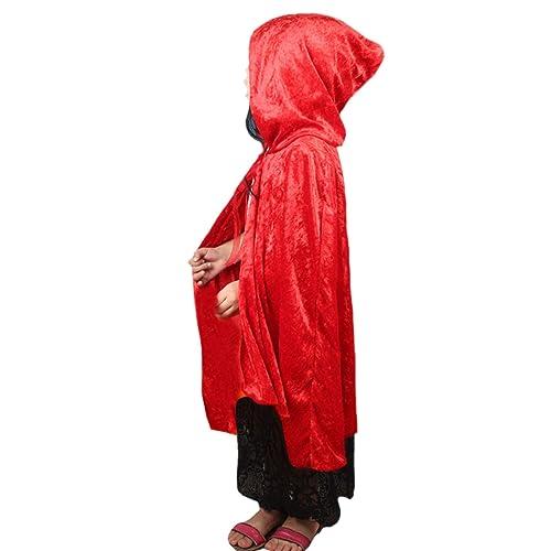 DELEY Niñas caperucita Roja de Terciopelo Capa de Disfraces ...