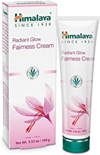 Himalaya Radiant Glow Fairness Cream for Dark Spots, Eye Bags and Under Eye Circles, Free from Parabens and Bleach, Moisturizing and Brightening Cream with Saffron and Alfalfa, 3.52 oz (100 g)