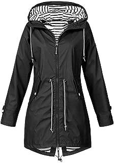 Winter Women Autumn Casual Daily Coats Women Solid Rain Coat