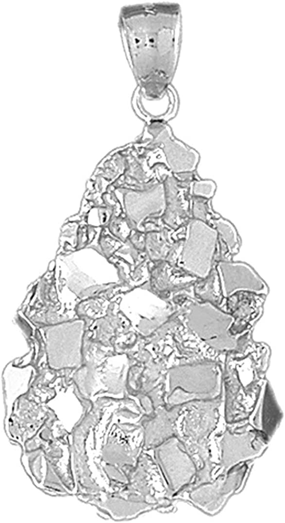 Jewels Obsession sold out Nugget Pendant Sterling Max 76% OFF 925 Silver Pen