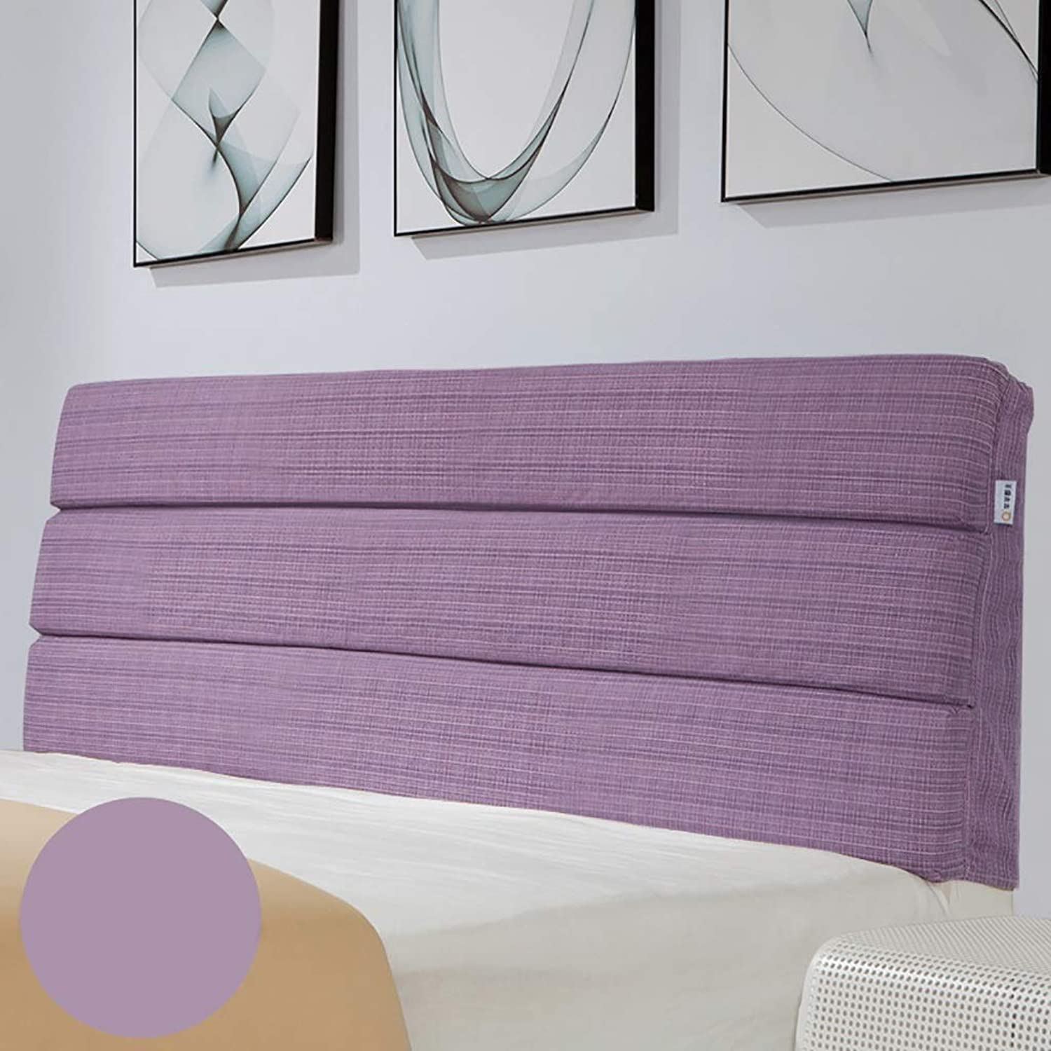 Large Soft Upholstered Headboard Cushion Wall Pillow Linen Fabric Lumbar Pad Bed Backrest Breathable Removable Washable (color   B, Size   180CM)