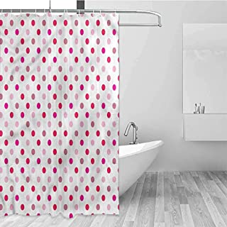 Shower Curtain Art Printed with 12pcs Curtain Hooks, Waterproof Thick Fabric Shower Curtains for Bathroom, Heavy Duty, 84 inch Extra Long, 48