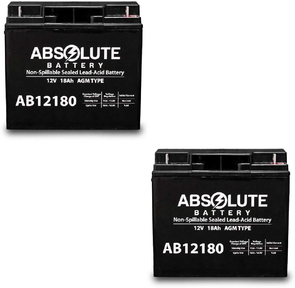 2 Pack AB12180 12V 18AH CTM HS-360 HS-320 公式通販 Homecare お得 Battery