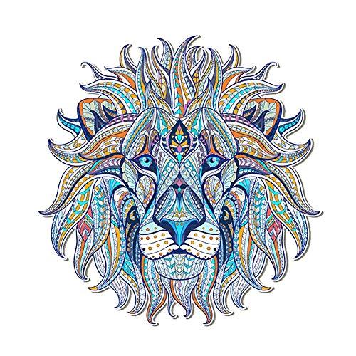 ZHOUBA Patchs thermocollants motif lion pour vêtements - Bleu