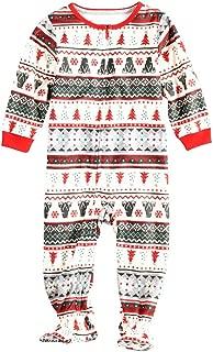 BOZEVON Christmas Pyjamas Set - Long Sleeve Trousers Pjs Sleepwear Outfit Christmas Family Pjs Matching Pajamas for Men Women Kids Baby Sleepsuit Xmas Nightwear