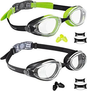 EverSport Swim Goggles, Pack of 2 Swimming Goggles, Swim Glasses No Leaking Anti Fog UV..