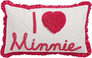 Ethan Allen | Disney Minnie Mouse Really Ruffle Minnie Mouse Boudoir Pillow, Minnie Pink (Dark Pink)