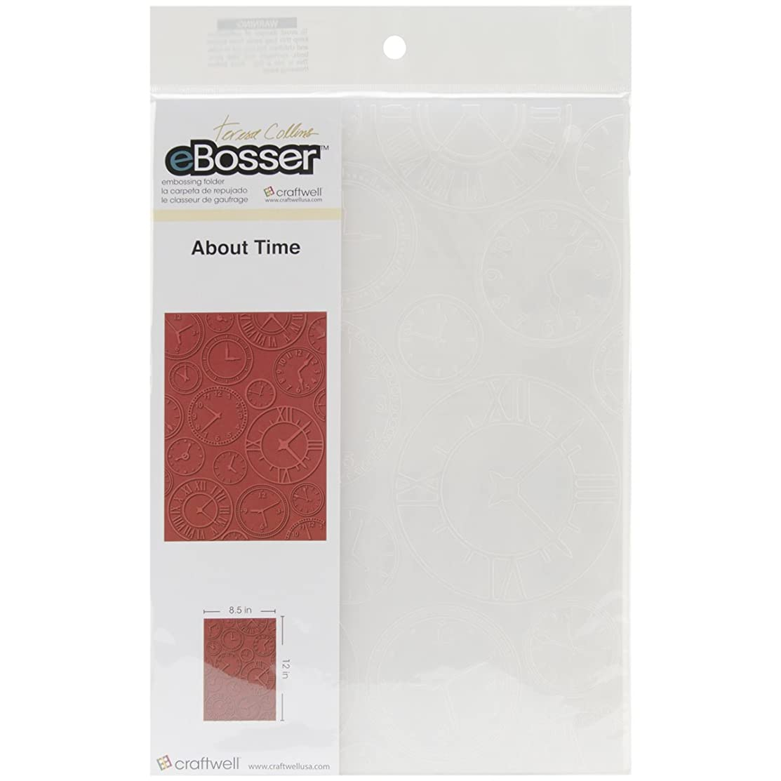 Craftwell USA About Time Teresa Collins Embossing Folder, 8.5 by 12-Inch