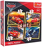 Trefl 07300 Disney Puzzle 4-In-1' Cars 3'