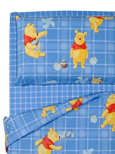 Disney By Caleffi Completo Copripiumino Pooh Fantasy Blu Singolo
