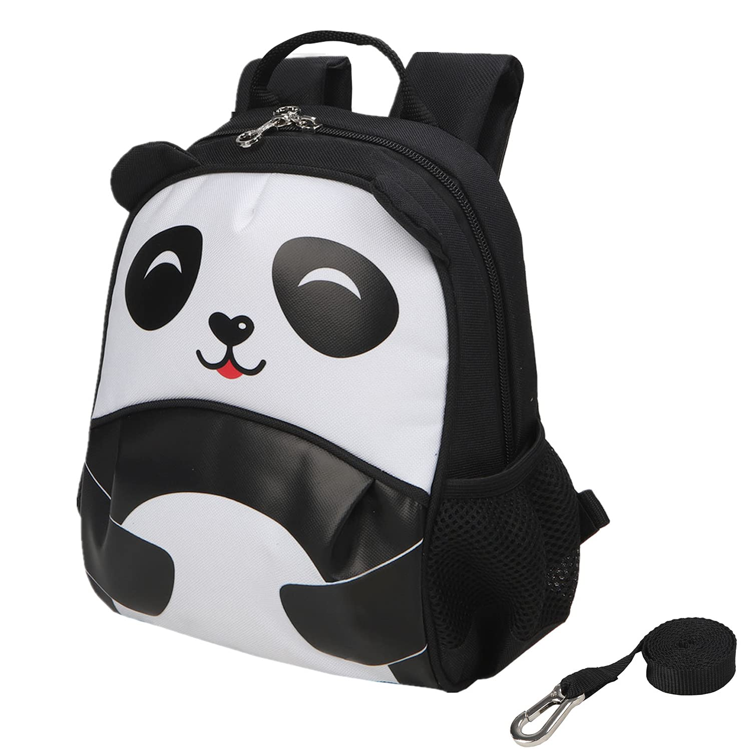 Yodo Kids Insulated Toddler Backpack with Safety Harness Leash and Name Label - Playful Preschool Lunch Boxes Carry Bag, Panda