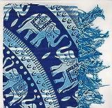 Goodforgoods Decoración con Diseño de Mandala y Elefantes India Ideal Yoga, Meditación,Estilo Hippie Bohemio Colcha Cama Sofa Tapiz Pared Picnic Playa Piscina Terraza 100% Algodón XXL 210x240cm