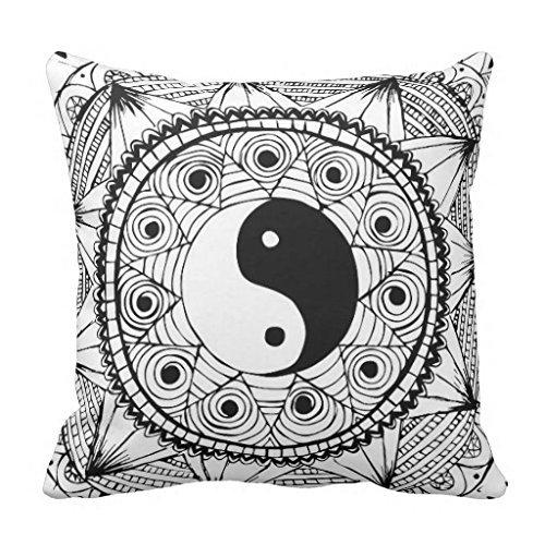 Yin & Yang Black pillowcase 20*20