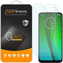 (3 Pack) Supershieldz for Motorola Moto G7 Tempered Glass Screen Protector, Anti Scratch, Bubble Free