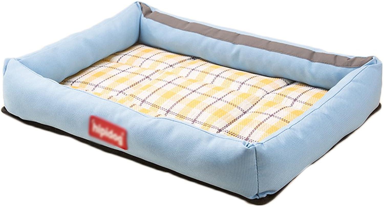 Pet Cool mat Oxford Cloth Pet Cooler Kennel Summer Medium Small Dog Pet Cat Nest Mattress Dog Supplies Cool Beds pet Cool pad (color   bluee, Size   32257cm)