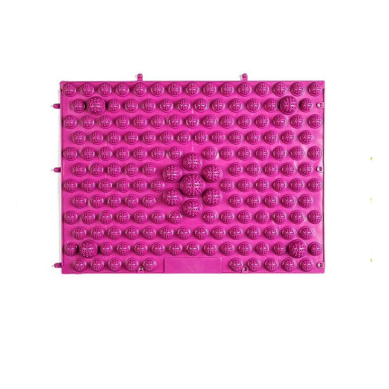 シルク敬意ミントウォークマット 裏板セット(ABS樹脂製補強板付き) (レッド)