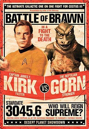 Aquarius Star Trek Kirk vs Gorn Blechschild