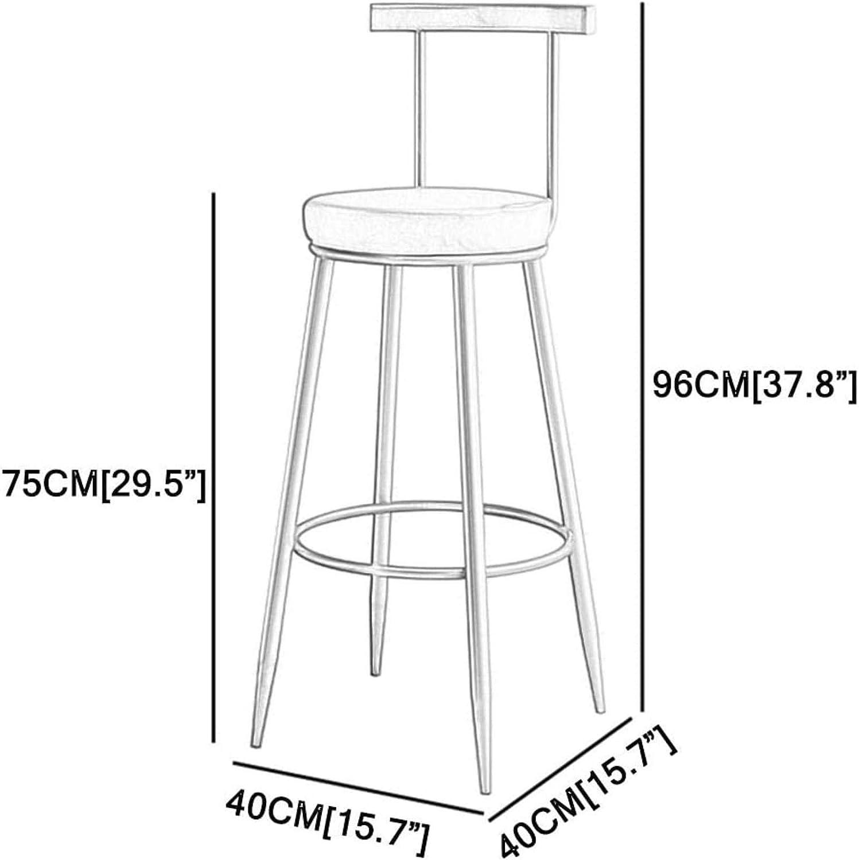 55 cm contatore Pub Cibo Passo Sgabello da Bar Sgabello,Rosa,Altezza Sella XUHRA I Moderni sgabelli e sedie Schiena