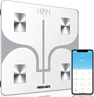 REDOVER-Bluetooth Body Fat Scale Free iOS Android App, Smart Wireless Digital Bathroom Scale Body Weight, Body Fat, Water,...