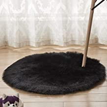 Round Carpet Plush Soft Warm Rugs Bedroom Bedside Sofa Living Room Coffee Table Cold-Resistant Non-Slip Mat,2,50cm