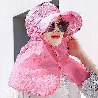 TY BEI Sombrero - Ciclismo de Verano para Damas Protección Solar Sombrero para el Sol Actividad al Aire Libre Cuello Facial Sombrero de sombrilla Integral (4 Colores) | (Color : Pink)