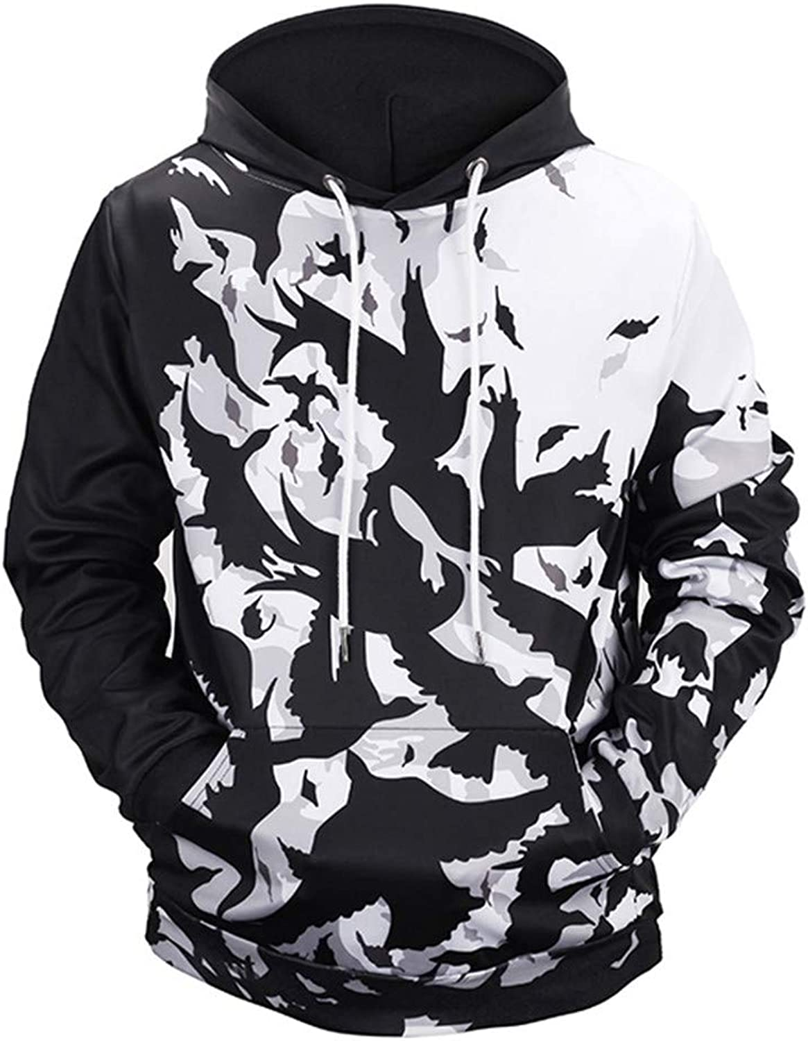 Nanquan Men Casual Full Zip Hoodie Hooded Sweatshirt Hooded Jacket