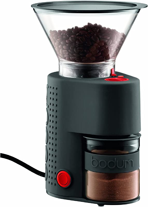 Bodum Bistro Burr Grinder Electronic Coffee Grinder With Continuously Adjustable Grind Black
