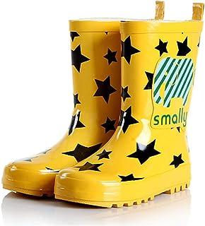 SPKIDS Kids Boys Girls Waterproof Non-Slip rain Shoes Easy On Rubber Rain Boots