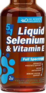 Selenium 200mcg Supplement - Excellent for Thyroid, Prostate & Heart Health - Pure Selenium Organic Drops with Vitamin E - Made in USA - Powerful Antioxidant & Immune Support - Superior Absorption
