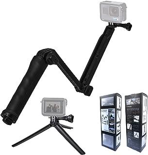【Ventlax】 GoPro hero5 hero6 hero7 hero8 (最新) 対応 3Way 自撮り棒 軽量 ラバーグリップ アングル調整可能