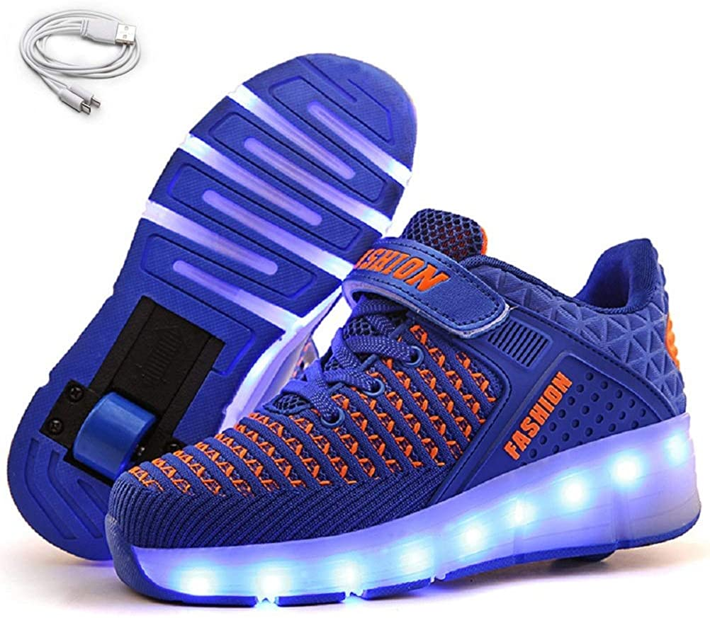 Ehauuo SEAL limited product Unisex Wheel Shoes Kids LED Light Roller up Popular brand in the world Sk USB Charge