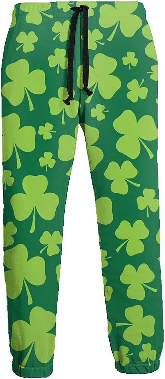 Mens Elastic Waist Sweatpants St. Patrick's Day Clovers Joggers Sweatpants for Gym Training Sport Pants