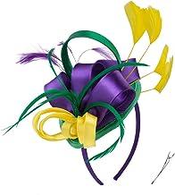 FELIZHOUSE Fascinator Hats Feather Satin Kentucky Derby Tea Party Hat Wedding Church Bridal Headwear for Women Girls