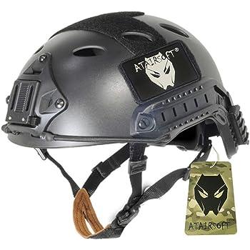 ATAIRSOFT FAST PJタイプ マリタイム サバゲー ヘルメット 空気穴を含む サイズは調節可能 BK サイズM-L
