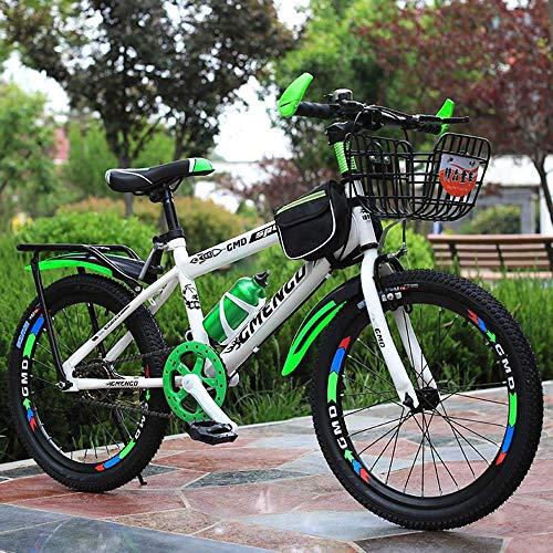 Nologo Bicicleta Bicicletas niños, Bicicletas de montaña, Bicicletas de Estudiantes, Hard Tail Bicicleta, 20/22 Pulgadas, Frenos de Disco Individual Velocidad Bici, bicis Antideslizantes