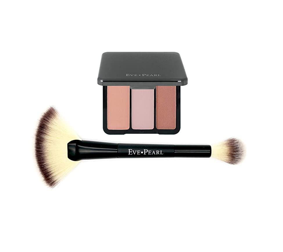 EVE PEARL Blush Trio Blush Palette Long Lasting Skincare Makeup And Dual 204 Fan Highlighter Hypoallergenic Brush Set Make up Kit- Sweet Cheeks