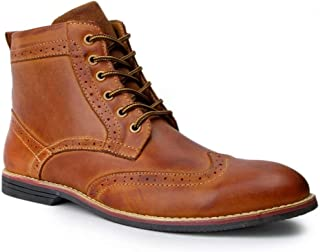 Men's Leather Brogue Lace up Premuim Boot