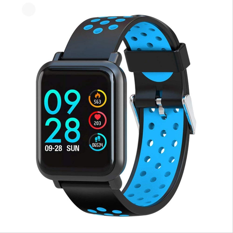 NBPM Herren Smartwatch 2.5D Screen Gorilla Glass Blautsauerstoff Blautdruck Ip68 Wasserdicht Activity Tracker Smart Watch Herren DamenBlau