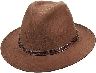 Scala Classico Men's Crushable Felt Safari with Leather Hat