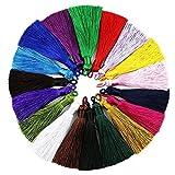 Zonfer 10 PCS Lunghi Nappa di Seta per Orecchini Gioielli E Accessori per Segnalibro Handmade della Boemia Accessorio DIY (Colore Casuale)