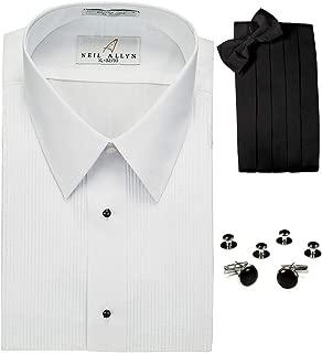 Lay-Down Collar Tuxedo Shirt, Cummerbund, Bow-Tie, Cuff Links and Studs Set