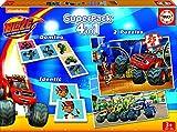 Blaze - Superpack, 4 Juegos en 1: dominó, Identic, 2 Puzzles (Educa Borrás 16853)