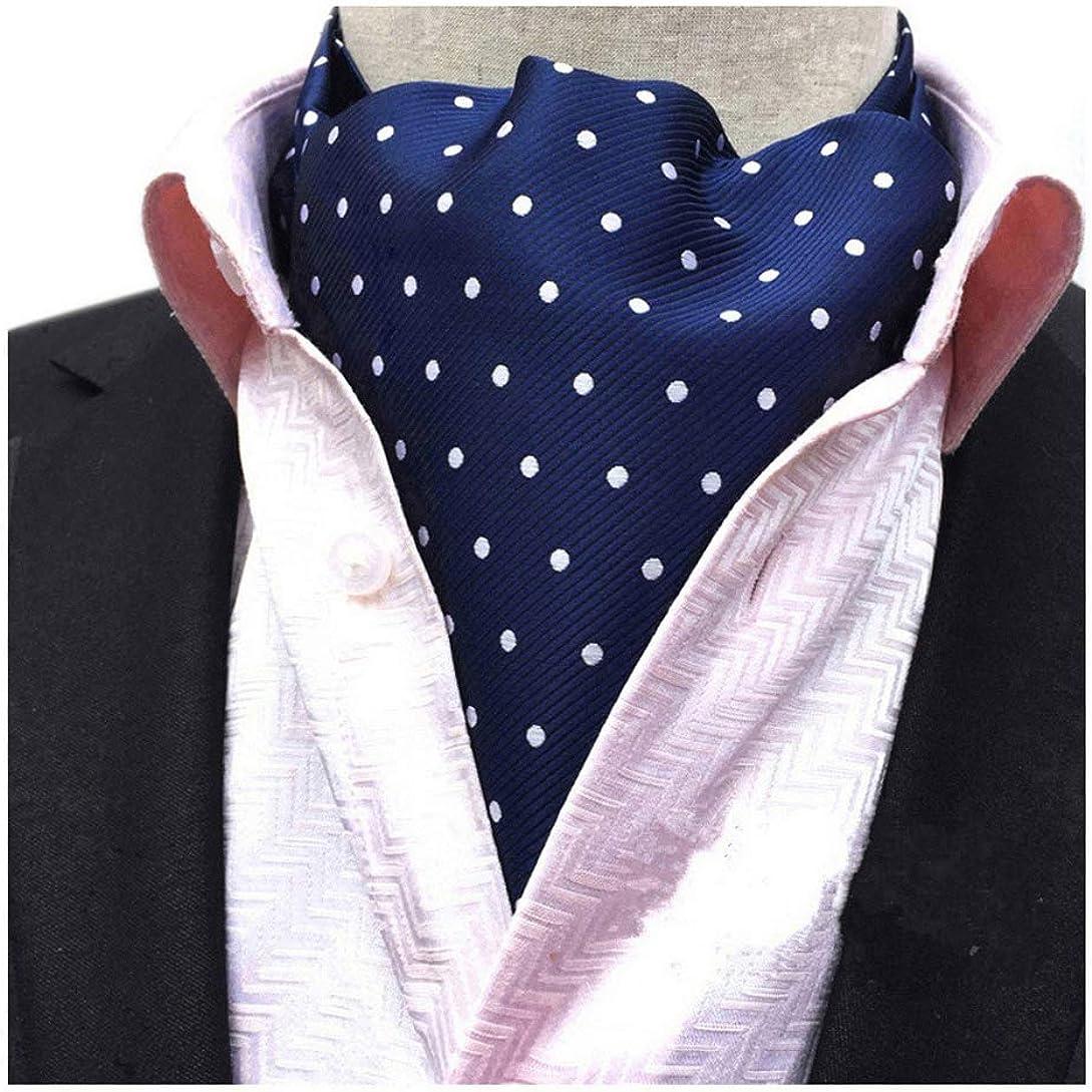 Elfeves Men's Paisley Floral 100% Silk Cravat Ties Hademade Formal Jacquard Woven Ascot
